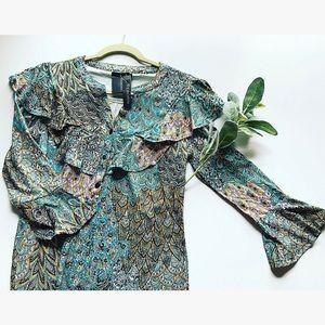 Teal Ruffle Top REBORN Dress
